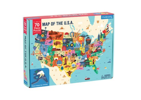 Mudpuppy 70 Psc Puzzles Map of USA