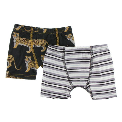 Kickee Pants Boxer Briefs Set Zebra Tiger and India Pure Stripe