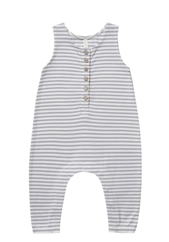 Quincy Mae Sleeveless Jumpsuit Grey Stripe
