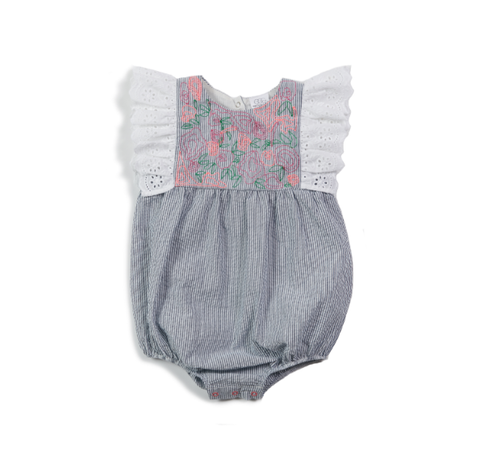 Egg Briella Romper Blue stripe