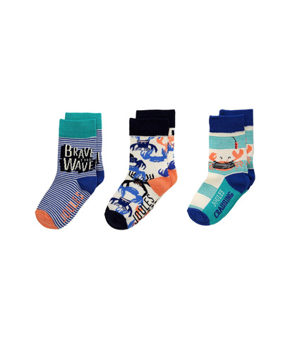 Joules Socks Waves Crabs