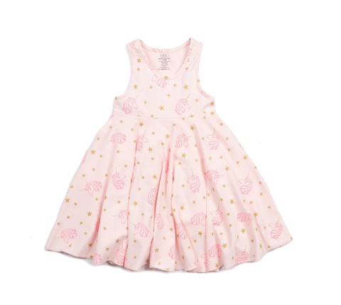 Egg Iona Pink Unicorn Racerback Dress