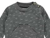 I&E T-Shirt Long Sleeve Green Jacquard
