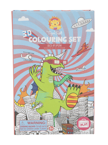 Schylling Sci Fi Fun - 3D Coloring Set