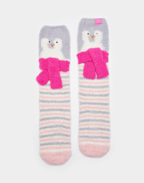 Joules Soft Fluffy Sock Cream