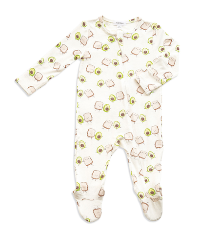 Angel Dear Avocado Toast Zipper Footie