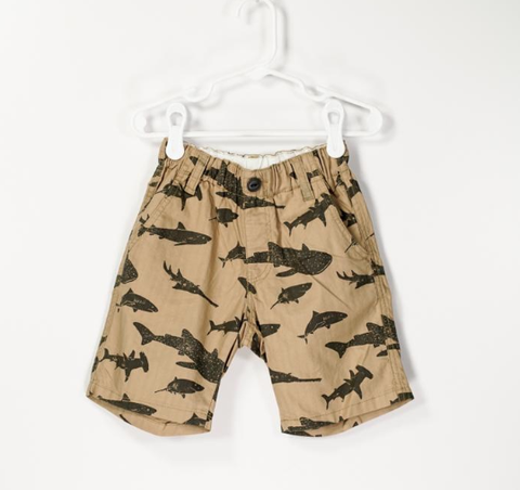 Bitz Kids Camel with Sharks Short