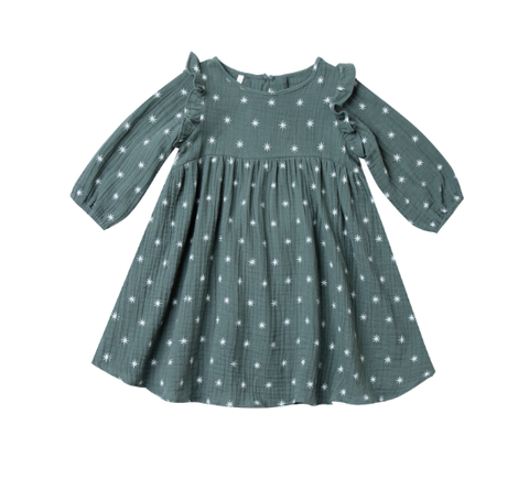 Rylee and Cru Northern Star Piper Dress Spruce