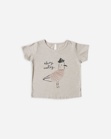 Rylee and Cru Ahoy Matey Tee Pebble Basic Tan