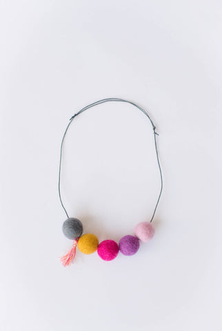 Lali Felt Pom Necklace (assorted)