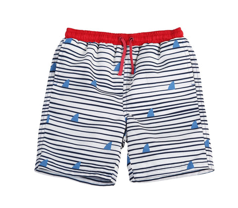 Egg Drake Shorts Blue Stripe Shark Fin