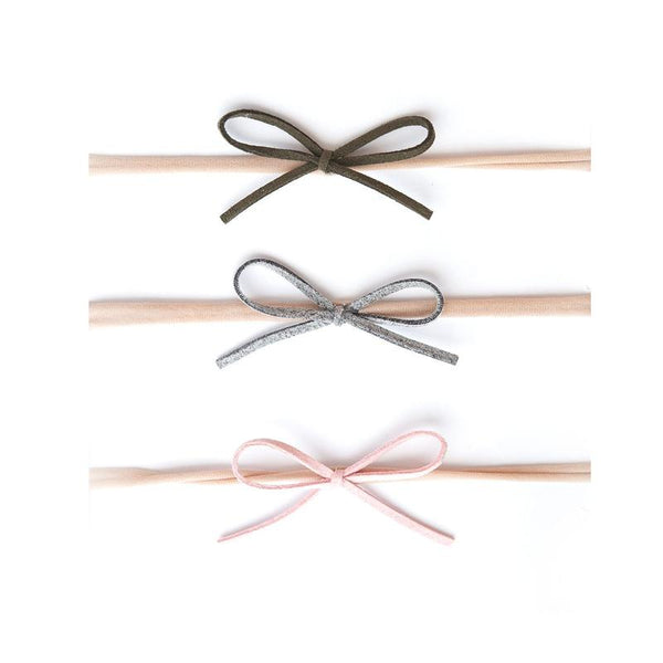 Baby Bling 3 pack Suede Cord Bow
