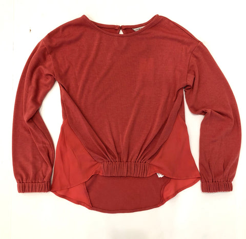 Habitual Long Sleeve Knit Top Red