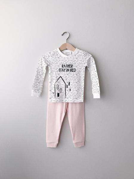 Miles Baby 2 Pc PJ Set Top and Pant Knit Off White