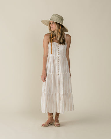 Rylee and Cru Womens Striped tiered Maxi dress