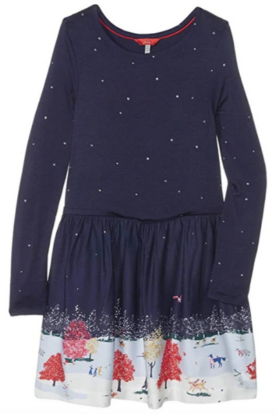 Joules Merrie Woven Mix Border dress