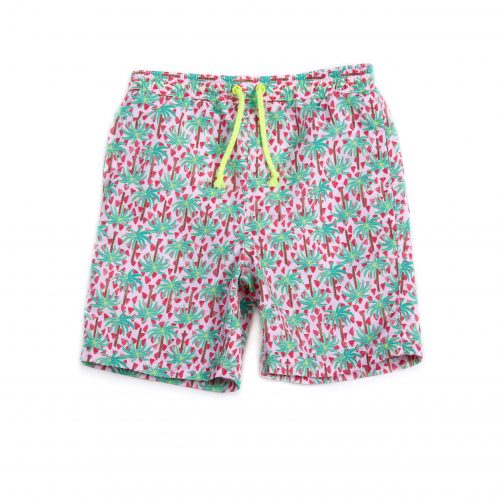 Egg Drake Swim Shorts Green Palm Trees