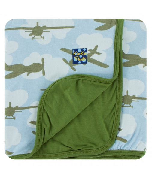 KP Print Toddler Blanket Pond Airplanes