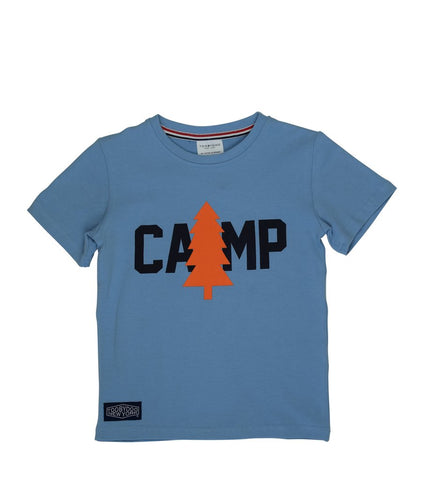 Tooby Doo Boys SS Tee Blue Camp