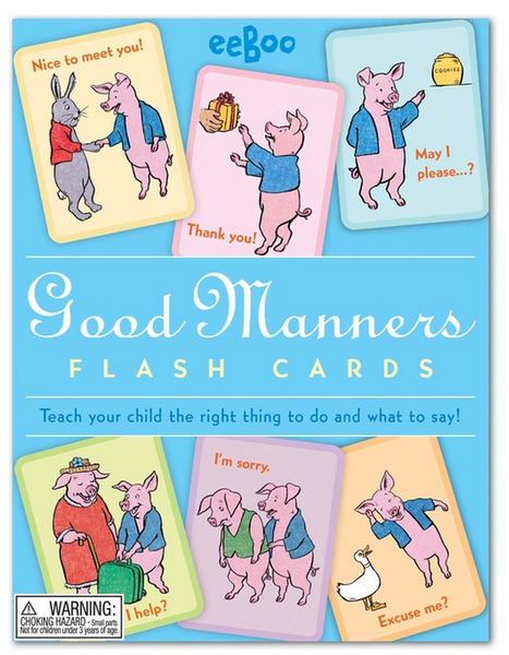 eeBoo Manners Flash Cards