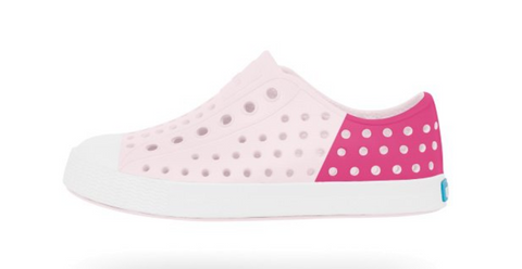 Native Jefferson Block Kids Milk Pink and Hollywood Pink