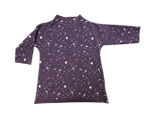 Go Gently Pullover Dress Navy Splatter