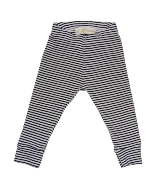 Go Gently Pencil Pant Navy Natural Stripe