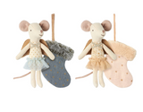 Maileg Mouse Angel With Stocking Assorted