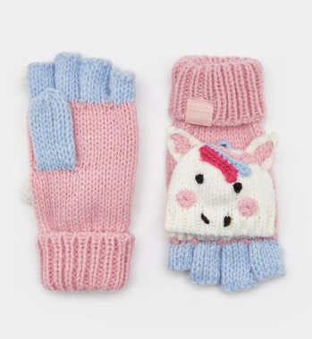 Joules French Character Mittens Unicorn