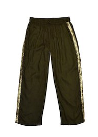 Haute Hits Sequin Trim Pants Green