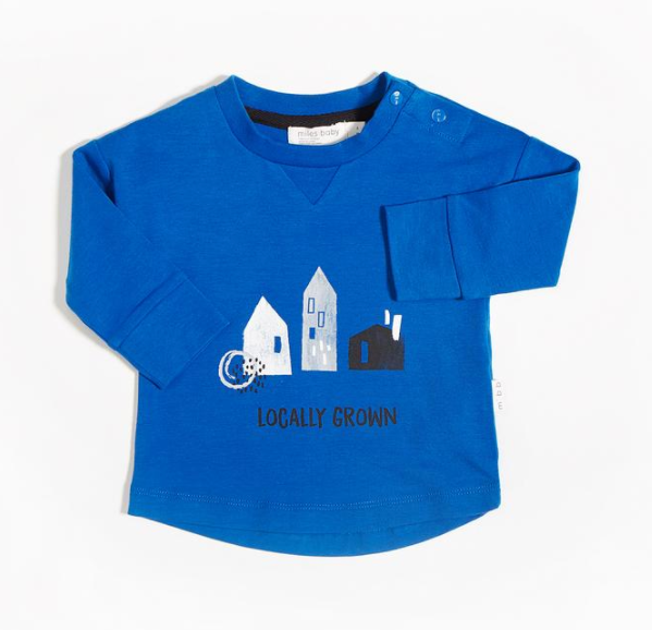 Miles Baby Shirt Knit Royal LOCALLY GROWN TOP