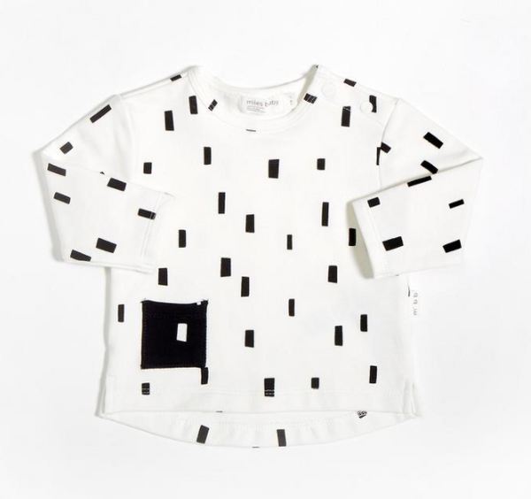Miles Baby Shirt Knit Off White