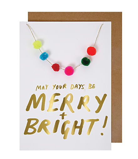 Mer Meri Merry and Bright Card