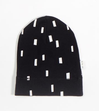 MB Baby Hat Knit Black White