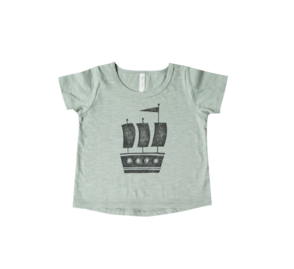 Rylee and Cru Ship Basic Tee Seafoam