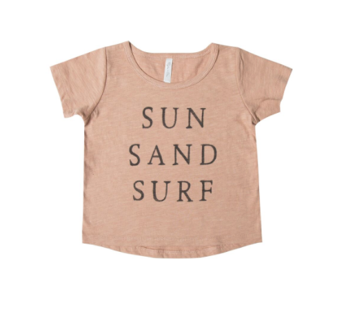 Rylee and Cru Sun Sand Surf Basic Tee Terra Cotta