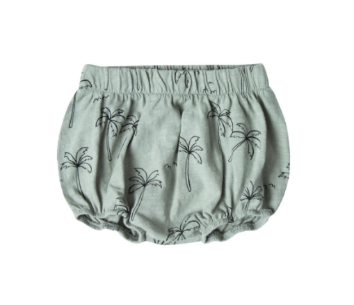 Rylee and Cru Bloomers Palm Trees Seafoam