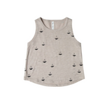 Rylee and Cru Sail Boat Muscle Tank Pebble