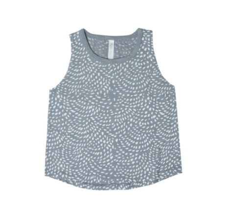 Rylee and Cru Dash Waves Muscle Tank Stormy Blue