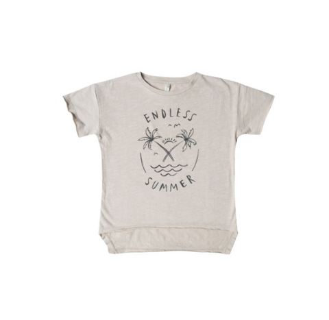 Rylee and Cru Endless Summer Raw Edge Tee Pebble
