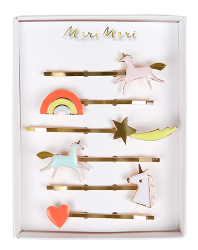 Meri MeriUnicorn Enamel Hairclips set of 6