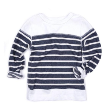 Appaman  Striped Crewneck Heather Navy Stripe