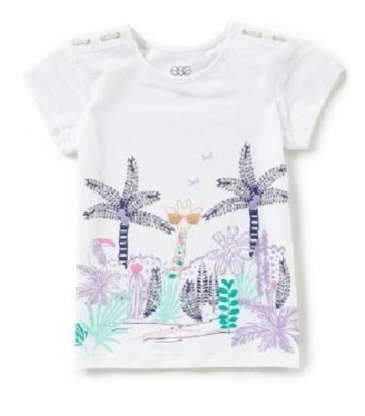 Egg Tara Top White Palm Tree