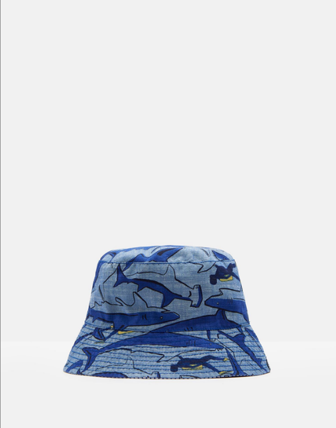 Joules Reversible  Bucket Hat  Blue Shark Diver