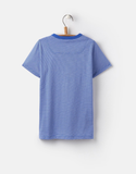 Joules Jersey T‑Shirt Navy Stripe Boards