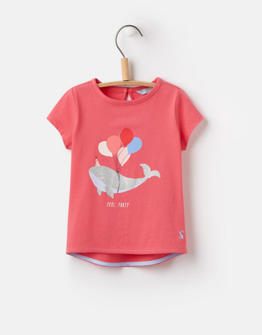 Joules Screen Tee Pool Party