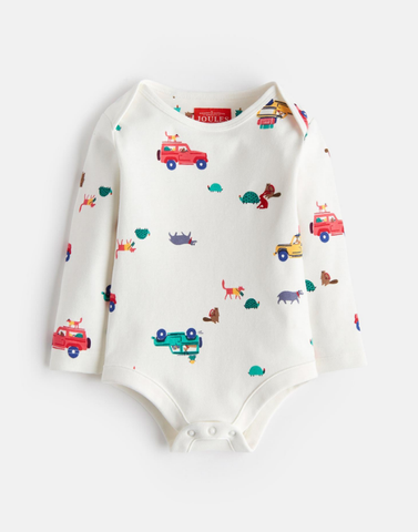 Joules LS Onesie Cars and Animals