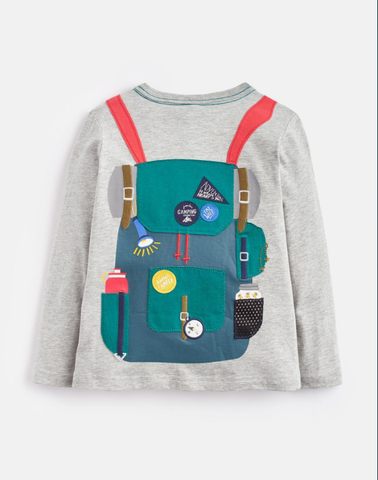 Joules Grey and Orange Animate Backpack Applique