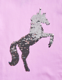 Joules  Dark Pink Sequin Unicorn Shirt