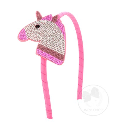 Wee Ones Large Chrystal Bling Emoji Unicorn Headband